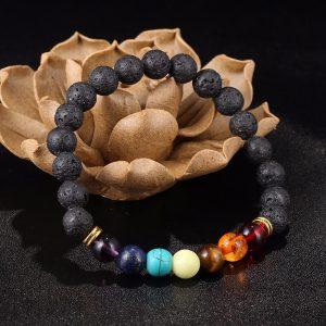 7 Chakra Volcanic Stone Energy Bracelet