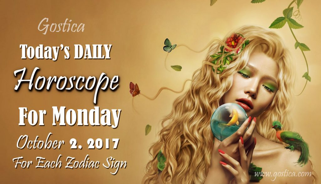 Today's DAILY Horoscope For Monday, October 2, 2017 For Each Zodiac Sign