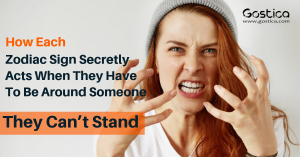 How Each Zodiac Sign Secretly Acts When They Have To Be Around Someone They Can't Stand 1