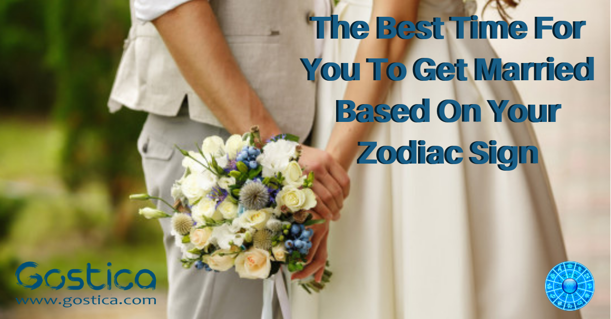 The Best Time For You To Get Married Based On Your Zodiac Sign