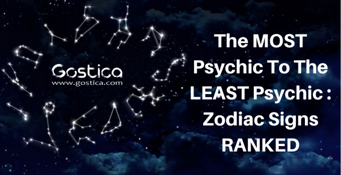The MOST Psychic To The LEAST Psychic : Zodiac Signs RANKED 5