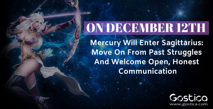 On December 12th Mercury Will Enter Sagittarius: Move On From Past Struggles And Welcome Open, Honest Communication