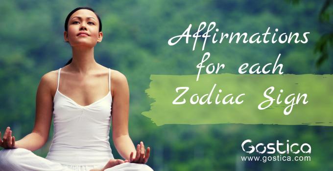 zodiac sign, affirmation