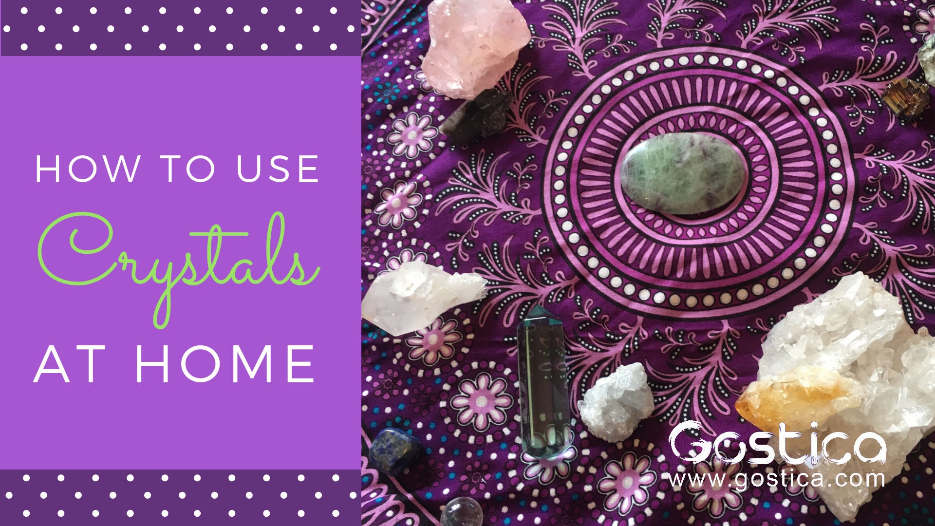 crystals, energy makeover