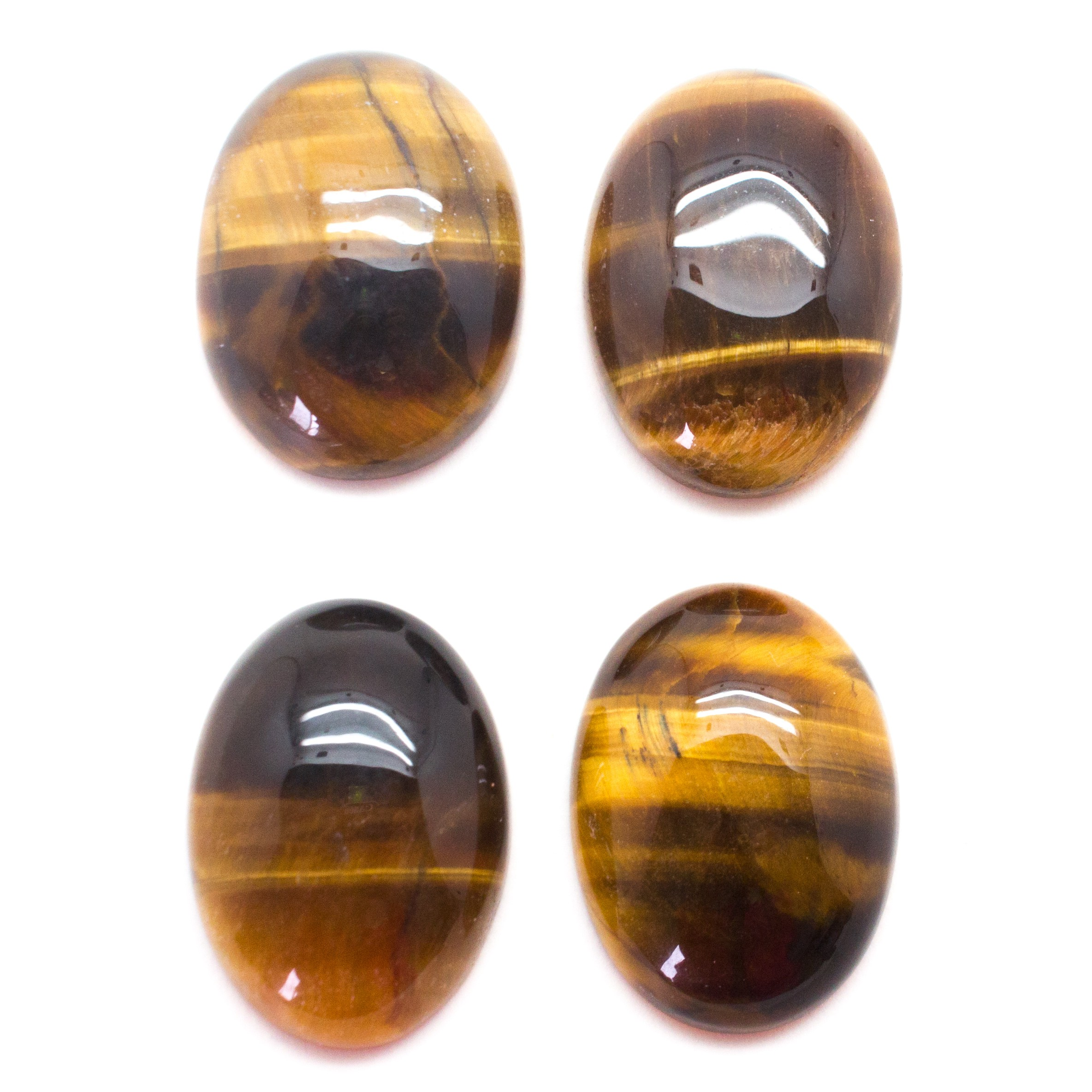 healing crystals, Tiger's Eye Cabochon Set