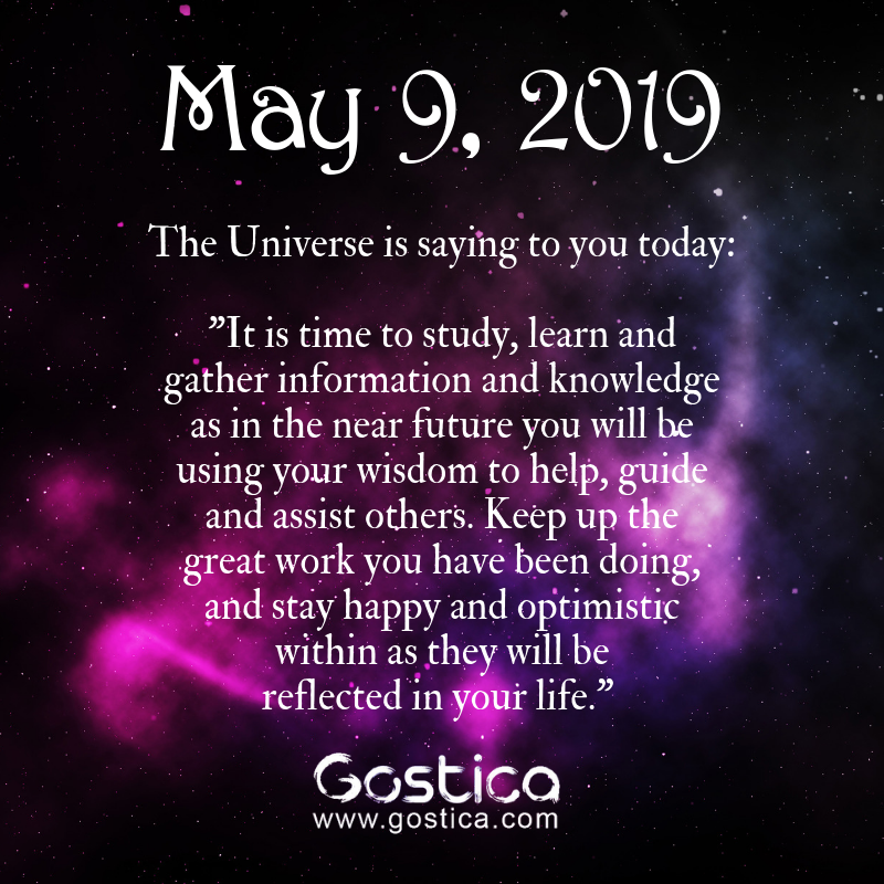 Today's Message From The Universe: Thursday, May 9, 2019 1