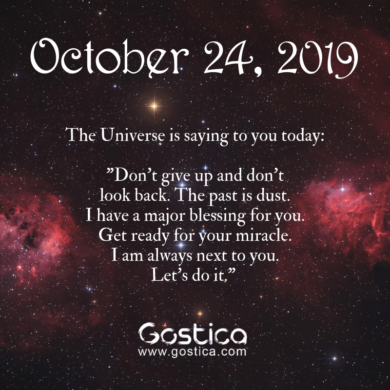 message from the universe