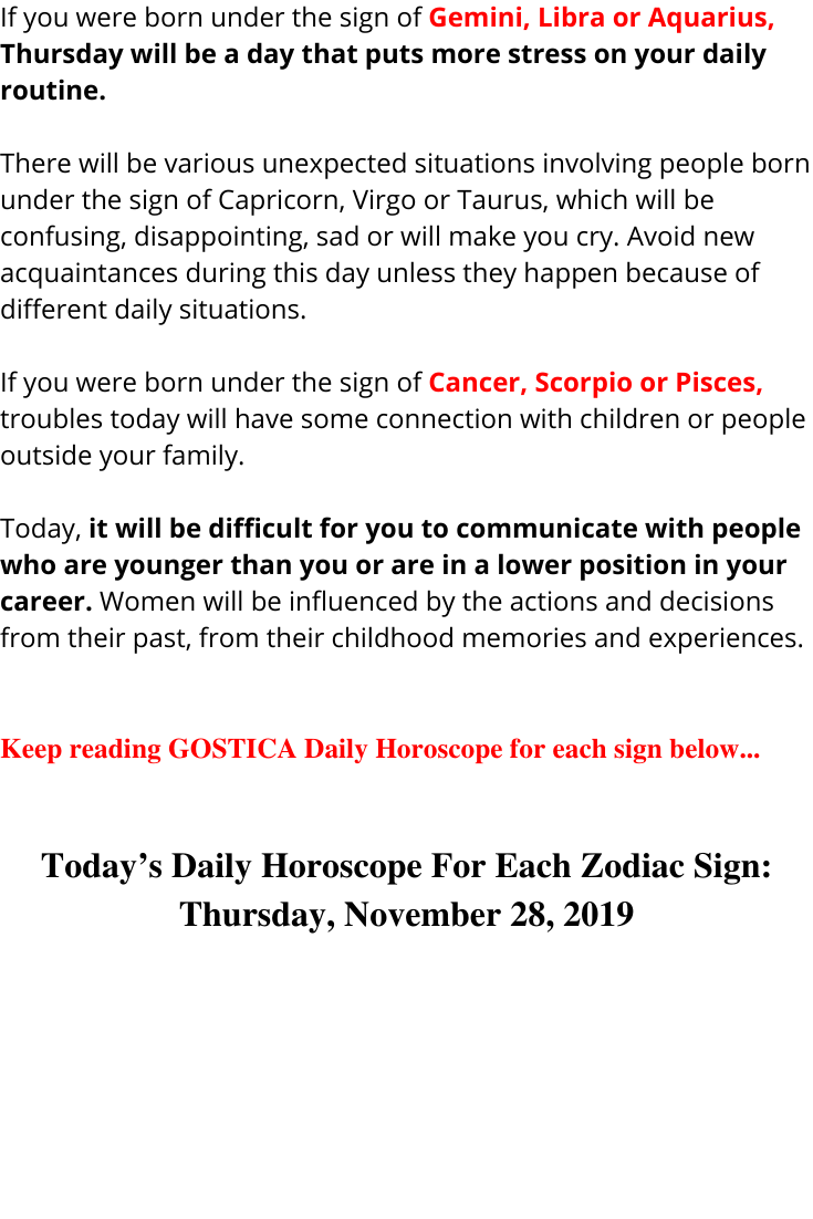daily horoscope